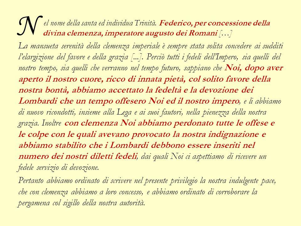 N el nome della santa ed individua Trinità. Federico, per concessione della divina clemenza, imperatore augusto dei Romani […]